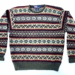 Vtg POLO RALPH LAUREN Wool Alpaca Camel Sweater